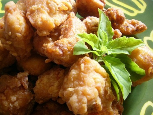 fried chicken cubes