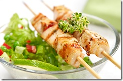 chicken kebab skewer