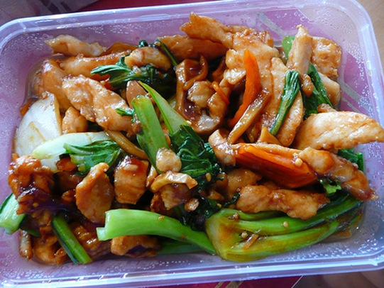 garlic chicken with vegetables