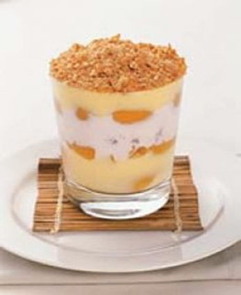 apricot with custard