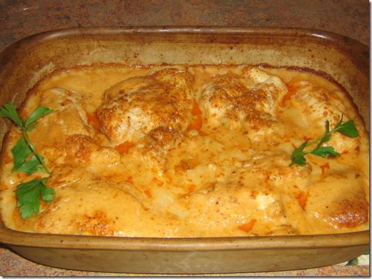 chicken in white sauce
