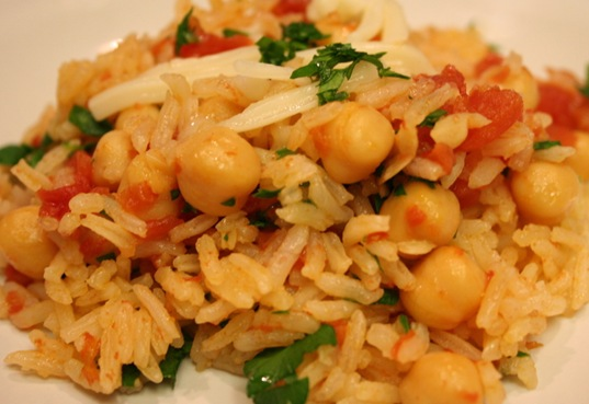 chickpea and tomato rice