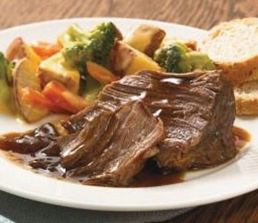 roasted beef with veggies
