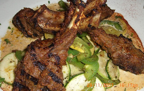 grilled mutton chops