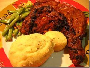 grilled chicken with demigras sauce
