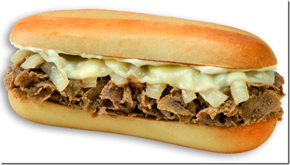 Cheese And Steak Sandwich