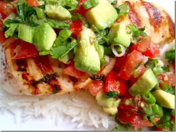 lime chicken with avocados