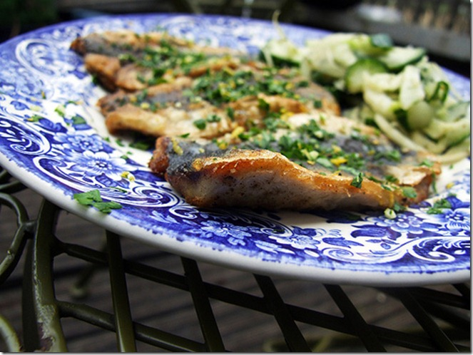 sardines with lemon and mint