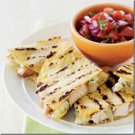 Chicken Quesadillas With Tomato Salsa