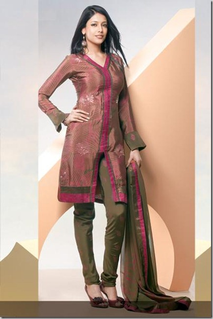Churidar_Dress_-_Pink_and_Green_Crepe_Silk_2010