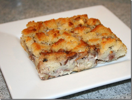 bread cheese pudding