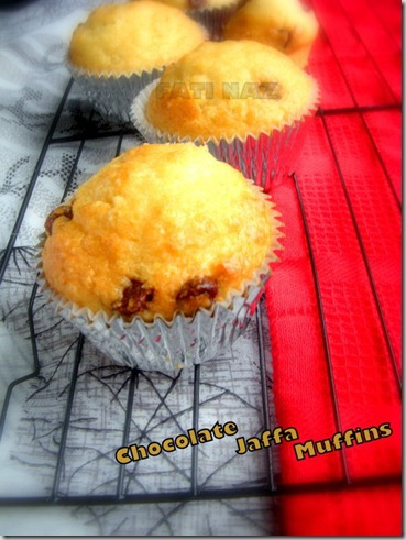 chocolate jaffa muffins