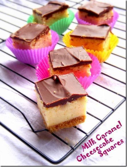 caramel cheesecake squares