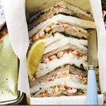 prawns lemon sandwiches