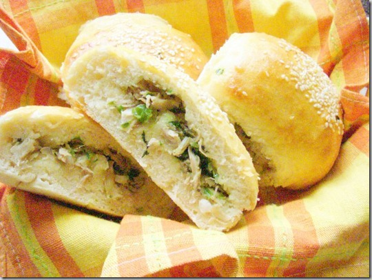 chicken filled buns