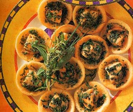 herbed mussel tarts