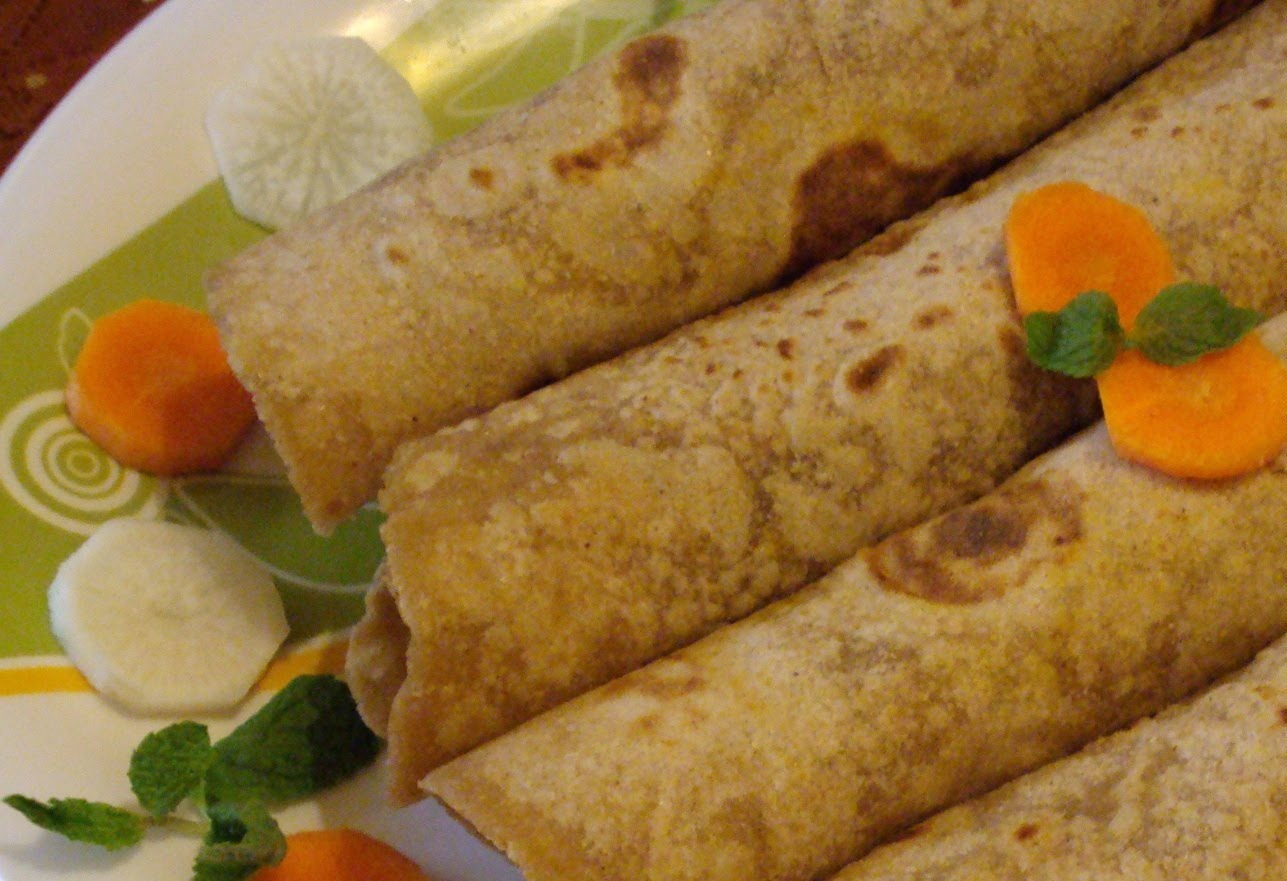 vegetable chapatti roll