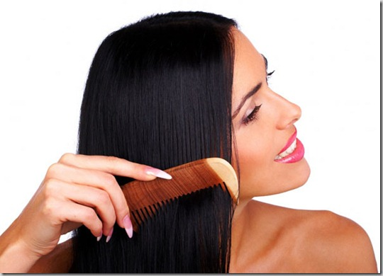 brushing-black-straight-silky-hair