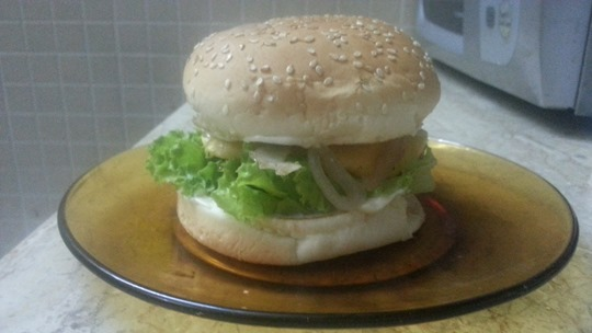 chicken bar-b-q burger
