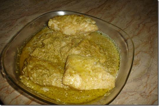 fish green gravy