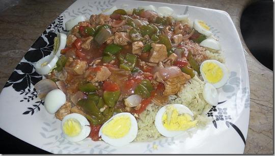 chicken shashlik with rice