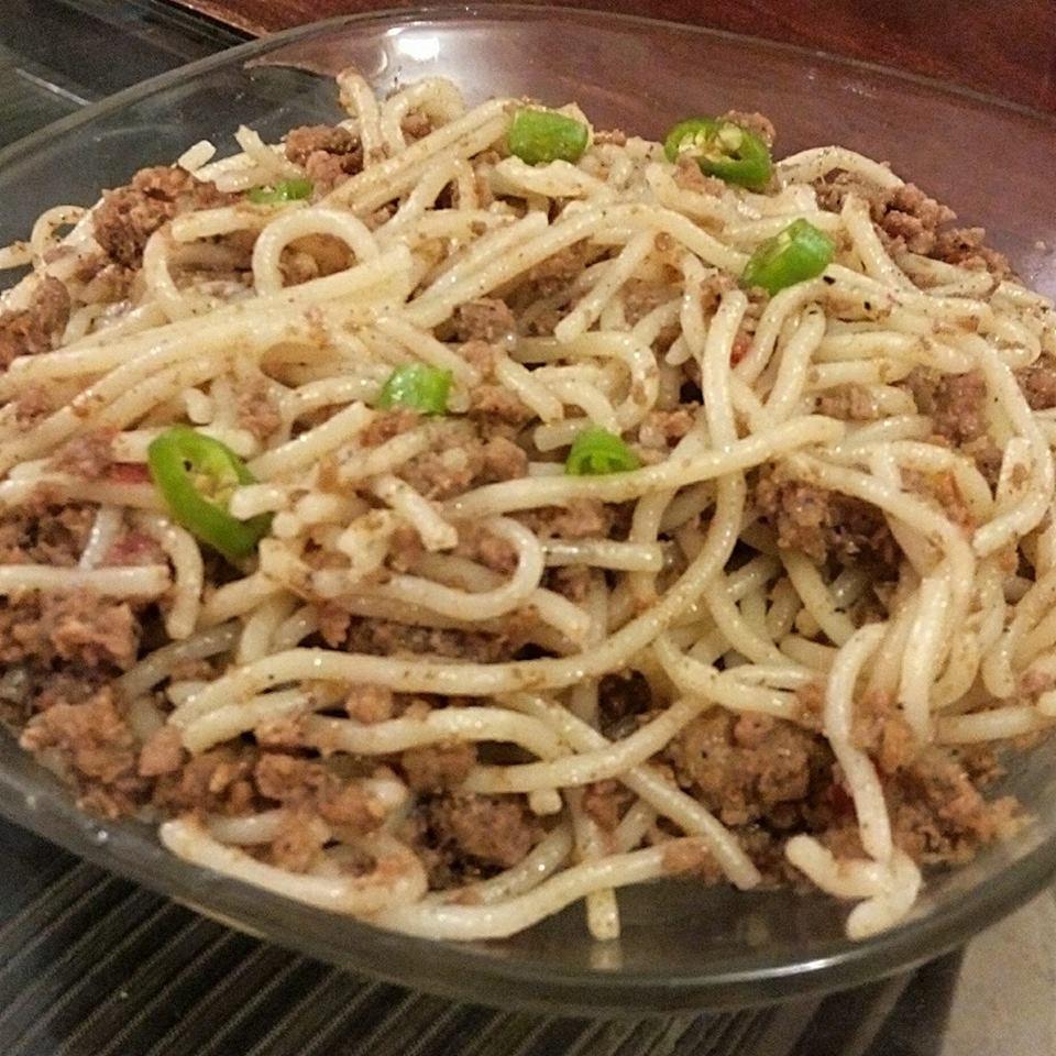 mince noodles