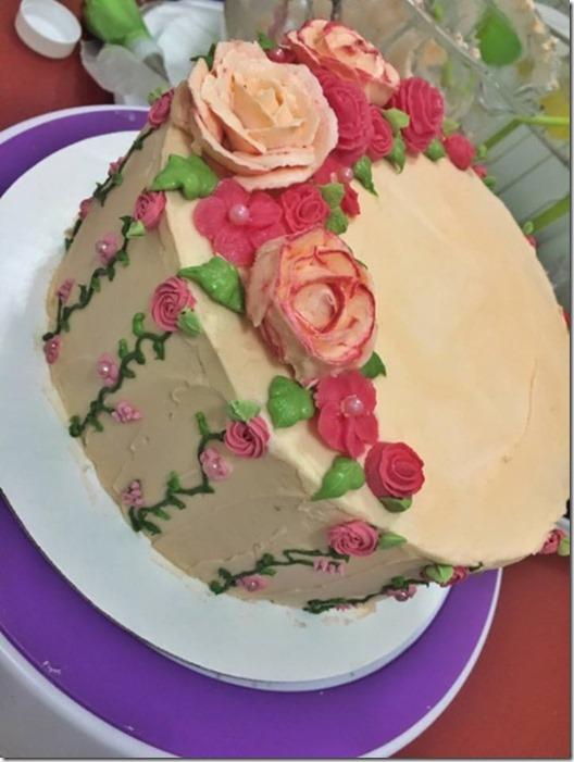 vanilla white chocolate cake