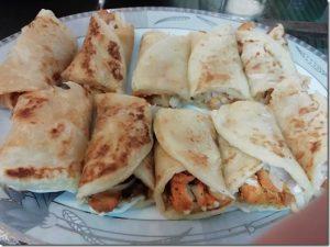 chicken tandoori paratha roll