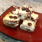 keto chocolate chip cheesecake bars