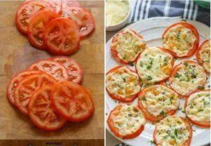 keto baked Parmesan tomatoes