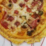 keto cheese and jalapeno chaffle